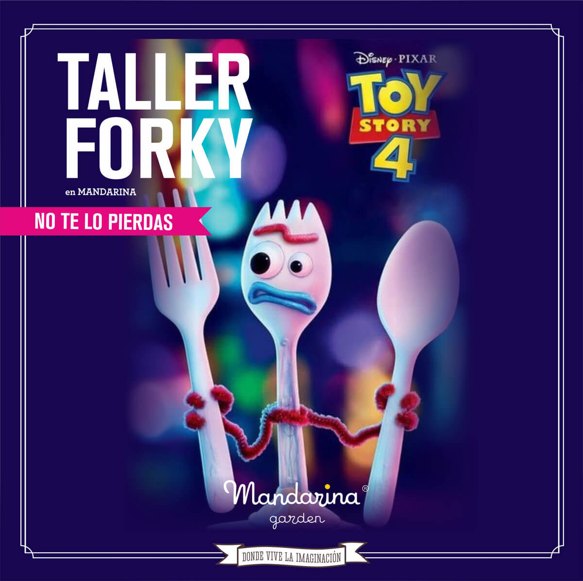 Special children's workshop Disney Toy Story. Create your own Forky